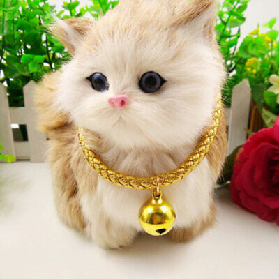 Dog Cat Kitten PU  Collar Pet Puppy Adjustable Harness Neck Strap with Bell