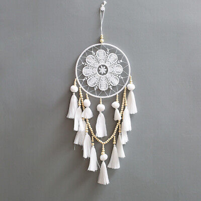Large Handmade White Dream Catcher Tassel Wall Hanging Decoration Ornament Gift