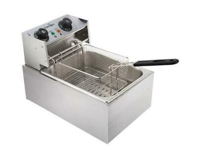 Commercial Electric Deep Fryer Quick-heat function 5 Star Chef - Silver