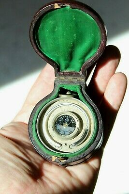 Stunning Victorian Cased Combined Pocket Barometer Altimeter/Compass/Thermometer