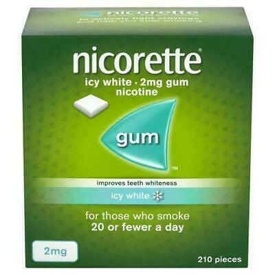 NICORETTE ICY WHITE GUM 2MG. 210 Pieces FAST AND  FREE POSTAGE
