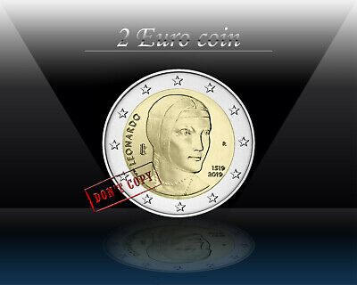 ITALY 2 EURO 2019 ( Leonardo da Vinci ) Commemorative 2 euro Coin * UNCIRCULATED