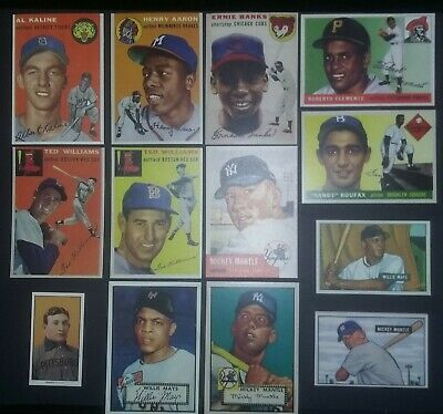 1950's Rookie Card & Hall of Fame Lot  Mickey Mantle Ted Williams😊😀😍😃🤣😜👌