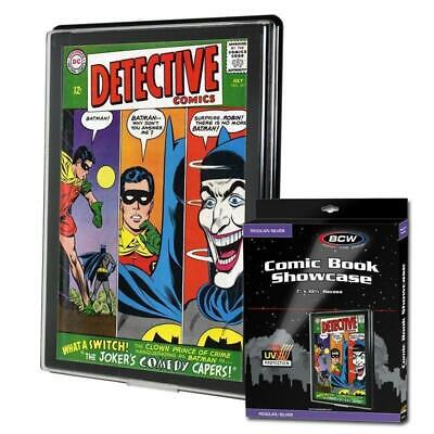 BCW Comic Book Holder UV Showcase Display Silver Age Wall Mount Case Frame