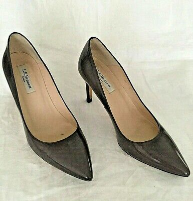 5a238c616761e LK Bennett of London Taupe Patent Leather Pumps Size 7 1/2 (EU 38