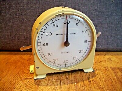 Vintage Retro Cream Enamel Darkroom Timer by English Clock Systems (60 Seconds)