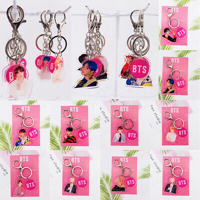 Kpop BTS Map of The Soul: Persona Acrylic Figure Keychain JIMIN V Cute Keyring