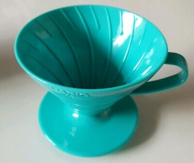 Hario V60 Teal Coffee Dripper Kit - V60 Size 02, 40 Unbleached Filters & Scoop
