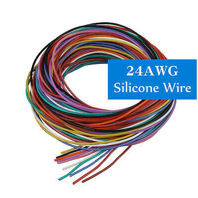 24AWG Flexible Stranded of Multi Color Silicone Wire Electronic RC Cable 75/100M