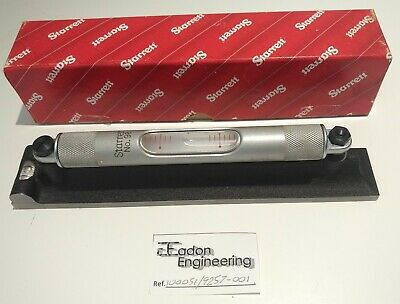 Starrett 98-8 Machinists Level with Ground and Graduated Vial.