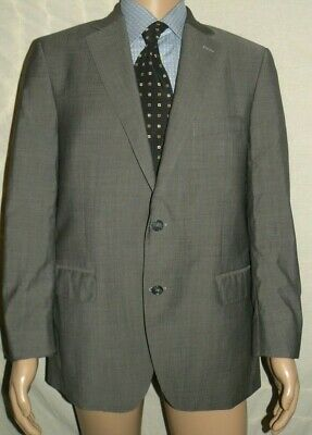 Mens PETER MILLAR Gray 100% Wool SPORT COAT Jacket Blazer sz 42 R FREE SHIP