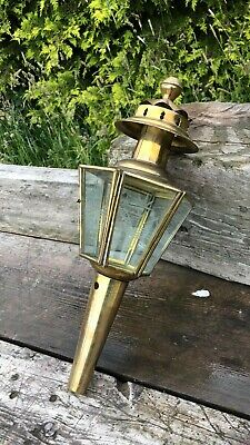 Beautiful Vintage French Brass & Glass Lantern Light *