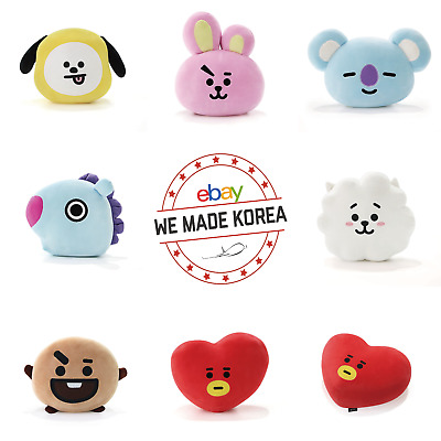 BTS BT21 Character Mochi Face Cushion Pillow 7types Authentic K-POP Goods