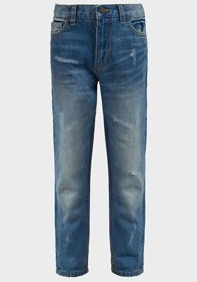 Ex UK Chainstore Boys Kids Distressed Jeans 3 4 5 6 7 8 9 10 11 12 Years