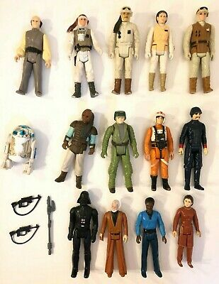 Rare Vintage Kenner Star Wars Action Figure Lot Of 14 Darth Vader Obi Wan Kenobi