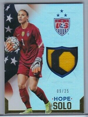 Hope Solo - 2015 Panini Usa Soccer National Team Prime Jersey /25 Uswnt Worldcup