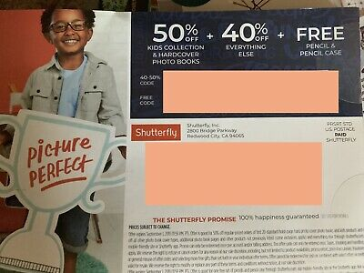 Shutterfly F R E E Pencil Case Coupon And 50% Off And 40% Coupons Expires 9/1/19