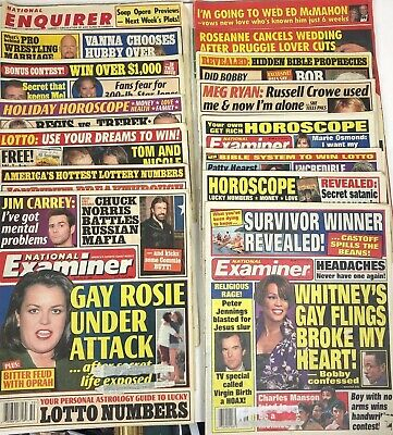Lot of 29 National Examiner Star National Enquirer Perditions for 1990