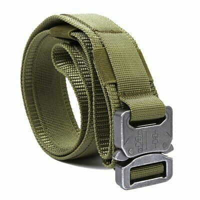 """1.5"""" Tactical Heavy Duty Waist Belt Military Style w/Quick Release Metal Buckle"""