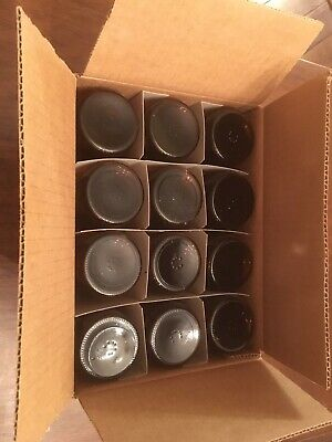 8 oz Boston Round Glass Bottles Amber case of 12