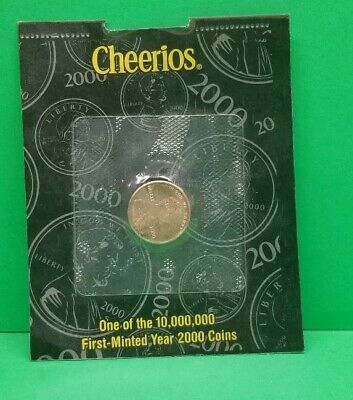 2000 P Cheerios Promotion Lincoln Memorial Cent Penny Sealed Original Package