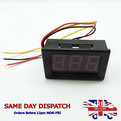 "DC 0-100V 0.56"" Three Wire Panel Voltmeter LED Display Digital Voltage 12V 24V"