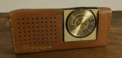 Vintage Westinghouse Transistor Radio Restore or Parts w/ Case and Ear Piece