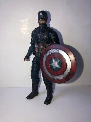 Custom Avengers Endgame Final Battle Captain America Action Figure And Shield 6""