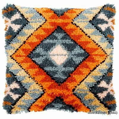 Vervaco Latch hook kit cushion Boho ethnic print, DIY