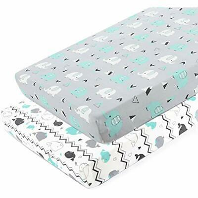 Pack N Play Stretchy Fitted Playard Sheet Set-Brolex 2 Portable Mini Crib Soft