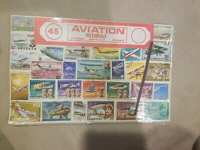 Lot of Worldwide All Different Aviation on Stamps Used