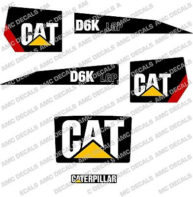Caterpillar Cat D6K Lgp Bulldozer Decal Sticker Set