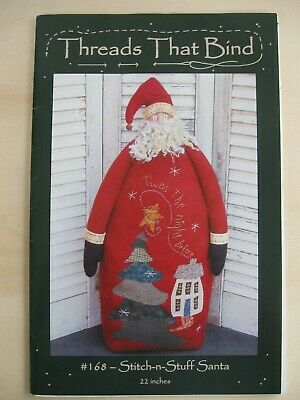 THREADS THAT BIND Stitch n Stuff SANTA Christmas decoration pattern