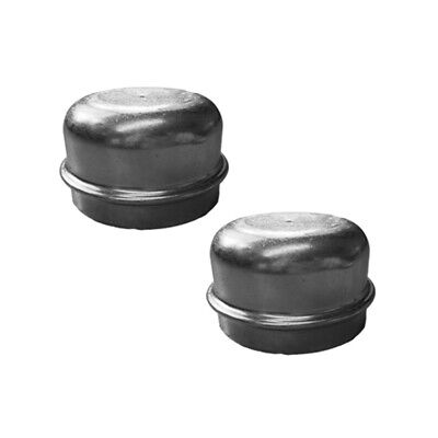 2 x Replacement 50mm Metal Hub Cap Wheel Dust Trailer Bearing Grease Cover