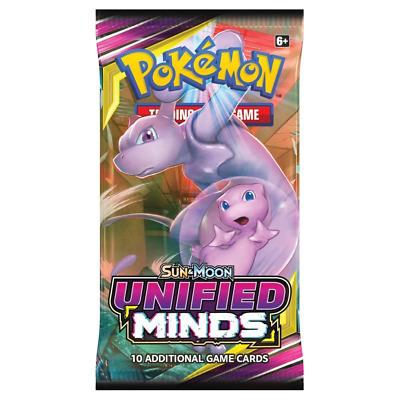 Pokemon TCG Sun & Moon Unified Minds Booster Pack NEW PREORDER 02/8