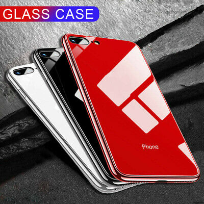 Original Tempered Glass Luxury TPU Hard Case Cover FOR Apple iPhone 7/8 X/XS Max