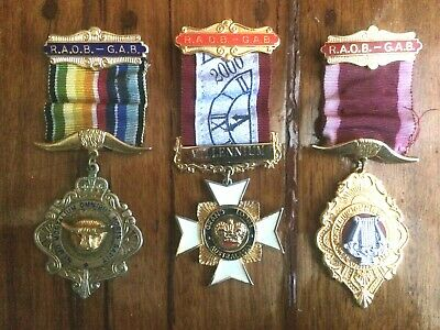 3 RAOB Royal Antediluvian Order Of Buffaloes Medals