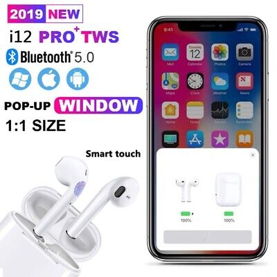 I12 TWS Bluetooth Version 5.0 Touch Control Earbuds Headphones Quick UK Delivery