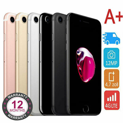 Apple Iphone 7 32Gb 128Gb Schwarz Silber Rot Diamantschwarz Rose Gold Jet Black