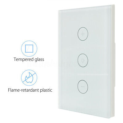 WIFI Smart Dimmer Light Switch In Wall Touch Panel Works with Alexa Google