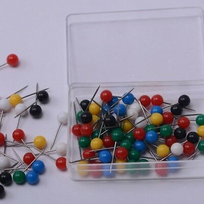 200pcs/set Map Tacks Push Pins Fish Use Round Head Steel Point High Quality UK