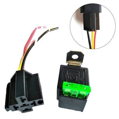 Utility 12V Automotive On/Off Fused Relay 30A 4-Pin with Holder Socket Trendy UK