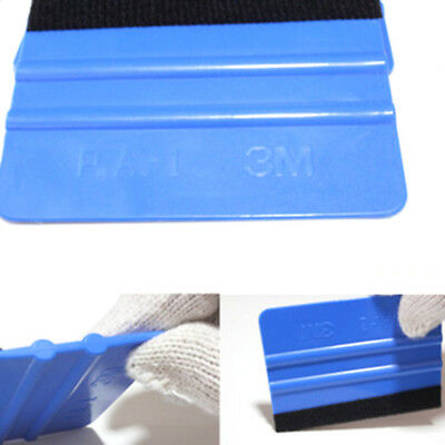 2 Pcs Portable Auto Car ABS Felt Edge Squeegee Vinyl Wrap Scrape Film Tools xdd