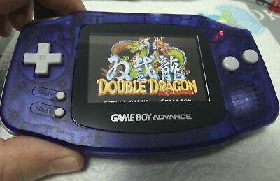 Console Game Boy Advance GBA Fat Backlit Ags 101 New Blue Blue