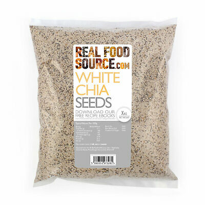 RealFoodSource - Whole Natural White Chia Seeds 1kg