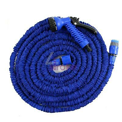 15M 50Ft 3X Expandable Flexible Garden Water Hose Jet Spray Nozzel Head