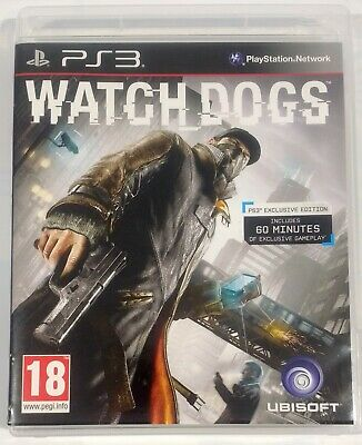 Watch Dogs PS3 Exclusive Edition Video Game PlayStation 3 Ubisoft