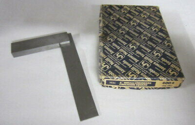 """Vintage tools Moore & Wright M & W 4"""" 100mm Engineers Precision Square England"""