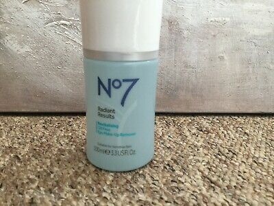 New No 7 Radiant Results Revitalising Oil Free Eye Make Up Remover 100ml