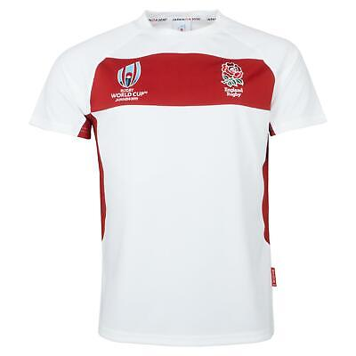 Rugby World Cup 2019 England Men's Panel Poly T-Shirt | White/Red